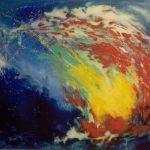 Amygdala, acryl op linnen ca. 80 x 100 cm, 1999 - Jeroen