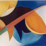 Manta Ray detail II, acryl op linnen tt. 55 x 205 cm, 1998