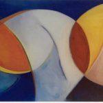 Manta Ray detail III, acryl op linnen tt. 55 x 205 cm, 1998