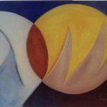 Manta Ray detail IV, acryl op linnen tt. 55 x 205 cm, 1998