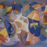 Preston's Jazz, olie linnen, 16x24 inch, 1998