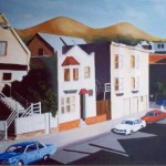 San Francisco, 25th & Vicksburg, acryl op linnen 100 x 120 cm, 1998