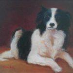 Suske hondportret, olie linnen, 24x30cm, 2002